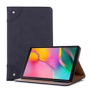 Retro boek stijl horizontale Flip lederen case voor Galaxy tab een 10 1 (2019) T510/T515  met houder & card slots & portemonnee (zwart)