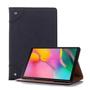 Retro boek stijl horizontale Flip lederen case voor Galaxy tab S5e 10 5 T720/T725  met houder & card slots & portemonnee (zwart)