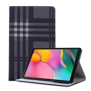 Plaid textuur horizontale Flip lederen case voor Galaxy tab een 10 1 (2019) T510/T515  met houder & card slots & portemonnee (grijs)