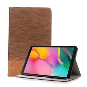 Cross textuur horizontale Flip lederen case voor Galaxy tab een 10 1 (2019) T510/T515  met houder & card slots & portemonnee (bruin)