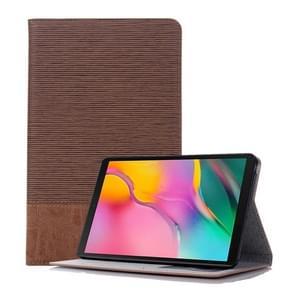 Cross textuur horizontale Flip lederen case voor Galaxy tab een 8 (2019) P200/P205  met houder & card slots & portemonnee (bruin)