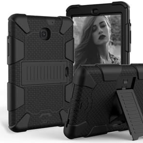 Shockproof Two-color Silicone Protection Shell for Galaxy Tab A 8.0 (2018) T387, with Holder  (Black)