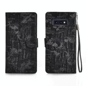 Horizontal Flip 3D Gradient Color PU + TPU Leather Case for Galaxy S10e, with Holder & Card Slots & Photo frame (Black)