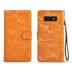 Horizontal Flip 3D Gradient Color PU + TPU Leather Case for Galaxy S10e, with Holder & Card Slots & Photo frame (Orange)