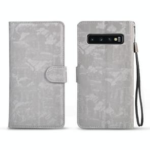 Horizontal Flip 3D Gradient Color PU + TPU Leather Case for Galaxy S10+, with Holder & Card Slots & Photo frame (Silver)