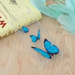 Blue Butterfly Pattern Oil Embossed TPU Case for Galaxy S10