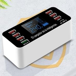 A9P 8 in 1 multifunctionele Smart digitale display laad station socket houder standaard