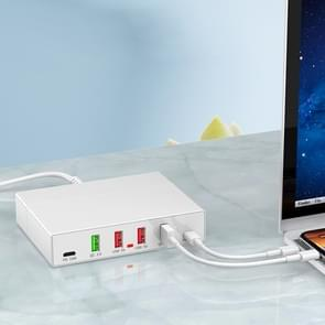 X5 6 in 1 multifunctionele USB-Snellaadstation Smart socket houder standaard