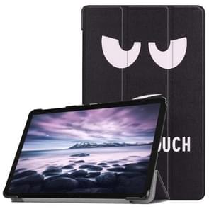 Eyes Pattern Horizontal Flip PU Leather Case for Galaxy Tab A 10.5 / T595 & T590, with Three-folding Holder & Sleep / Wake-up Function