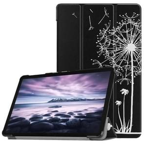 Dandelion Lover Pattern Horizontal Flip PU Leather Case for Galaxy Tab A 10.5 / T595 & T590, with Three-folding Holder & Sleep / Wake-up Function