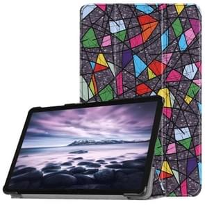 Church Window Pattern Horizontal Flip PU Leather Case for Galaxy Tab A 10.5 / T595 & T590, with Three-folding Holder & Sleep / Wake-up Function