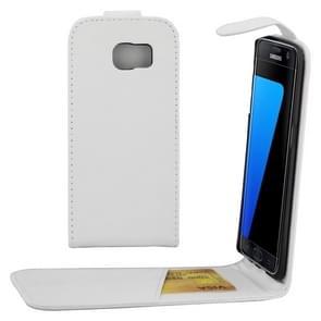 Voor Samsung Galaxy S7 Edge / G935 duidelijke structuur taille tas met Magnetic sluiting & opbergruimte voor pinpassenwit