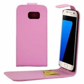 Voor Samsung Galaxy S7 / G930 duidelijke structuur taille tas met Magnetic sluiting & opbergruimte voor pinpassen(roze)