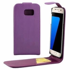 Voor Samsung Galaxy S7 / G930 duidelijke structuur taille tas met Magnetic sluiting & opbergruimte voor pinpassen(paars)