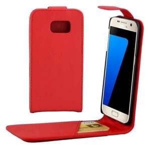 Voor Samsung Galaxy S7 / G930 duidelijke structuur taille tas met Magnetic sluiting & opbergruimte voor pinpassen(rood)