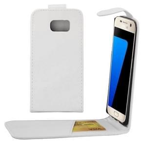 Voor Samsung Galaxy S7 / G930 duidelijke structuur taille tas met Magnetic sluiting & opbergruimte voor pinpassenwit