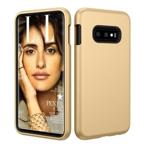 Solid Color TPU + PC Protevtive Case for Galaxy S10 E (Gold)