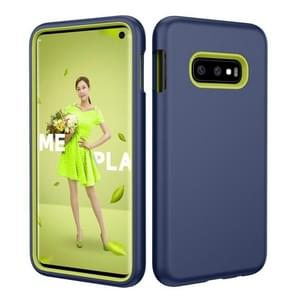 Solid Color TPU + PC Protevtive Case for Galaxy S10 E (Navy Blue)