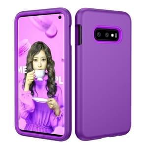 Solid Color TPU + PC Protevtive Case for Galaxy S10 E (Purple)