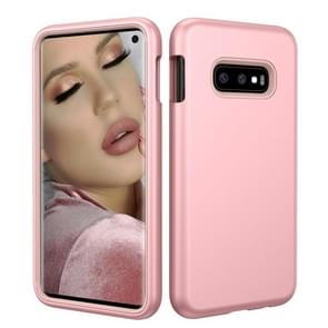 Solid Color TPU + PC Protevtive Case for Galaxy S10 E (Rose Gold)