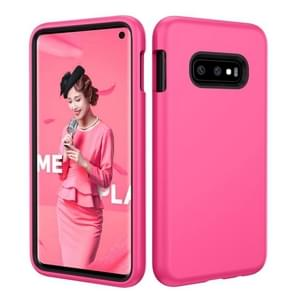 Effen kleur TPU + PC Protevtive Case voor Galaxy S10 E (Rose Red)