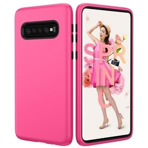 Solid Color TPU + PC Protevtive Case for Galaxy S10 (Rose Red)