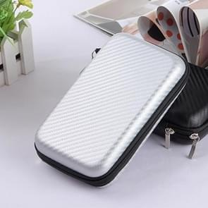 2.5 inch Hard Disk Storage Bag Earphone bag Multi-function Storage Bag, Bag Size: 3 inch (Silver)