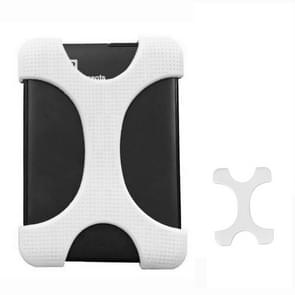 X Type 2.5 inch Hard Drive Disk Silicone Case for WD / SEAGATE / Toshiba, without Hole (White)