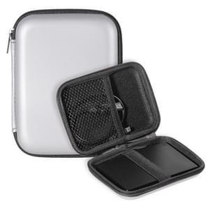 2.5 inch Hard Disk Storage Bag Earphone bag Multi-function Storage Bag, Bag Size: 2.5 inch (Silver)