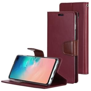 MERCURY GOOSPERY SONATA DIARY Horizontal Flip Leather Case for Galaxy S10+, with Holder & Card Slots & Wallet (Red)