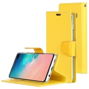 MERCURY GOOSPERY SONATA DIARY Horizontal Flip Leather Case for Galaxy S10+, with Holder & Card Slots & Wallet (Yellow)