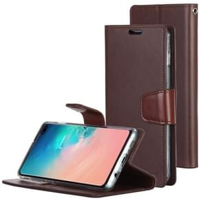 MERCURY GOOSPERY SONATA DIARY Horizontal Flip Leather Case for Galaxy S10+, with Holder & Card Slots & Wallet (Brown)