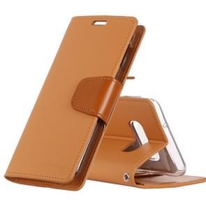 MERCURY GOOSPERY SONATA DIARY Horizontal Flip Leather Case for Galaxy S10 Lite, with Holder & Card Slots & Wallet (Orange)
