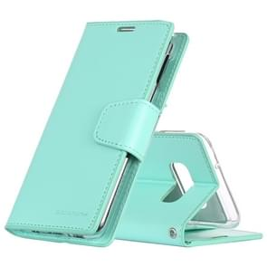 MERCURY GOOSPERY SONATA DIARY Horizontal Flip Leather Case for Galaxy S10 Lite, with Holder & Card Slots & Wallet (Mint Green)