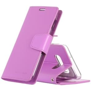 MERCURY GOOSPERY SONATA DIARY Horizontal Flip Leather Case for Galaxy S10 Lite, with Holder & Card Slots & Wallet (Purple)
