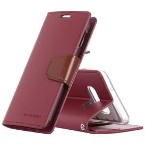MERCURY GOOSPERY SONATA DIARY Horizontal Flip Leather Case for Galaxy S10 Lite, with Holder & Card Slots & Wallet (Red)