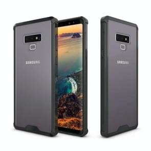 Acrylic + TPU Shockproof Transparent Armor Protective Case for Galaxy Note9 (Black)