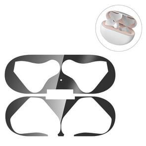 Metaal stofdichte beschermsticker voor HuaWei FreeBuds 3(Zwart)