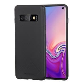 MERCURY GOOSPERY STYLE LUX Series Shockproof Soft TPU Case for Galaxy S10 (Black)