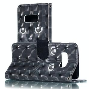 3D Black Eyes Pattern Horizontal Flip PU Leather Case for Galaxy S10e, with Holder & Card Slots & Wallet & Photo Frame