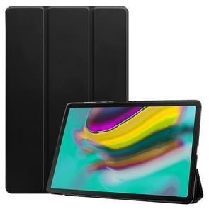 Plain weave textuur doorschijnend lederen case voor Galaxy tab S5e 10 5 T720/T725  met 3-voudige houder & slaap/Wake-up functie (zwart)