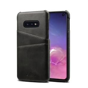 Suteni Calf Texture Protective Case for Galaxy S10 E, with Card Slots (Black)