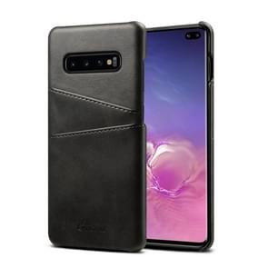 Suteni Calf Texture Protective Case for Galaxy S10 Plus, with Card Slots (Black)