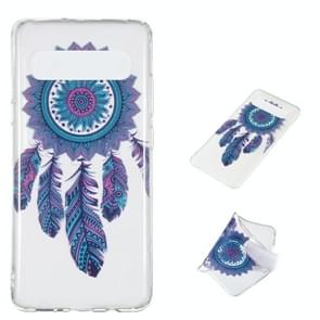 Blue Wind Chime Pattern Highly Transparent TPU Protective Case for Galaxy S10 5G