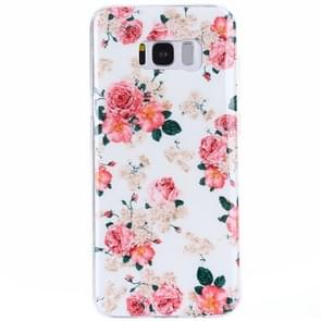 For Galaxy S8 + / G955 Rose Pattern IMD Workmanship TPU Protective Back Cover Case