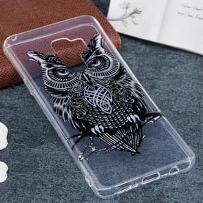 For Galaxy S9+ Owl Pattern TPU Soft Protective Back Case