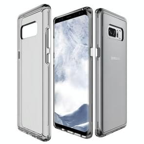 For Galaxy Note 8 PC + TPU Transparent Shockproof Protective Back Cover Case (Grey)
