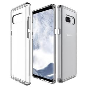 For Galaxy Note 8 PC + TPU Transparent Shockproof Protective Back Cover Case (Transparent)