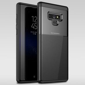 UNBREANK Carbon Fiber Texture PC + TPU Invisible Airbag Shockproof Protective Case for Galaxy Note9 (Black)
