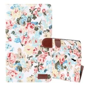 Dibase Flower Pattern Horizontal Flip PU Leather Case for Galaxy Tab S4 10.5 / T830, with Holder & Card Slot (White)